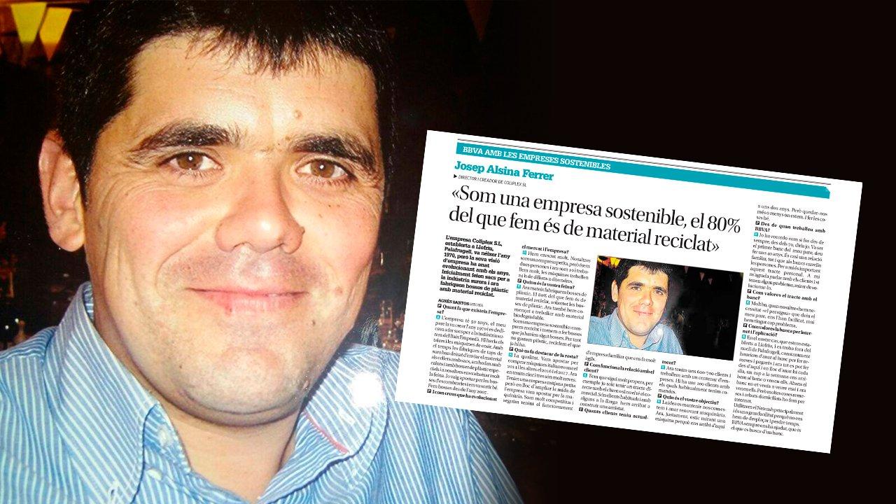 Josep Alsina, gerent de Coliplex, ha estat entrevistat aquest dissabte pel Diari de Girona, gràcies a BBVA