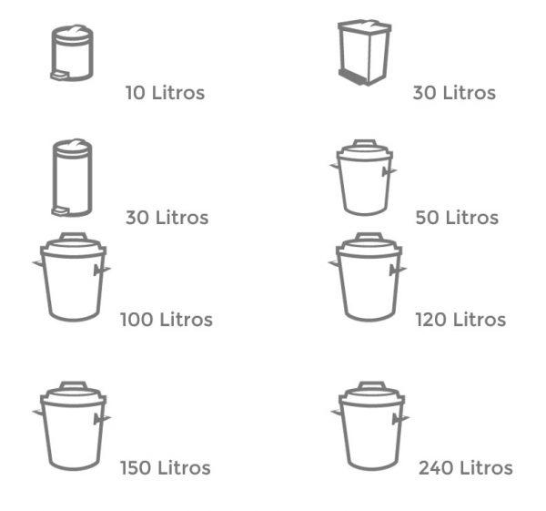 capacidades bolsas de basura